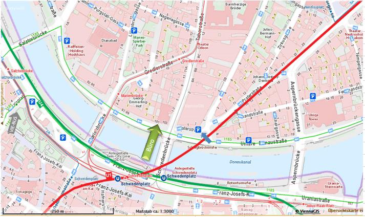 Anfahrtsplan Wolfgang Fritz Ingenieursbüro Wien-technisches Büro (1)